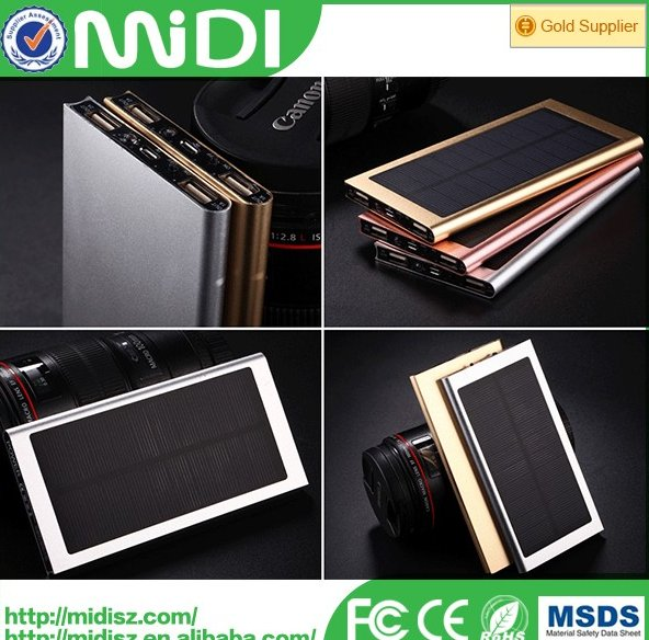 high quality new products consumer electronics solar panel power bank 20000mah for cellphones