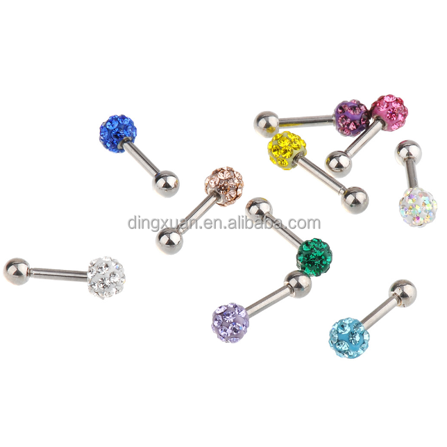 Hot Sale Cartilage Stud With epoxy crystal ball
