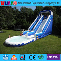 40ft Giant inflatable water slide with pool for adult and kids