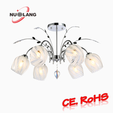 2017 Classic Style Simple Design Glass Chandelier With 6 Lights, Pendant Light