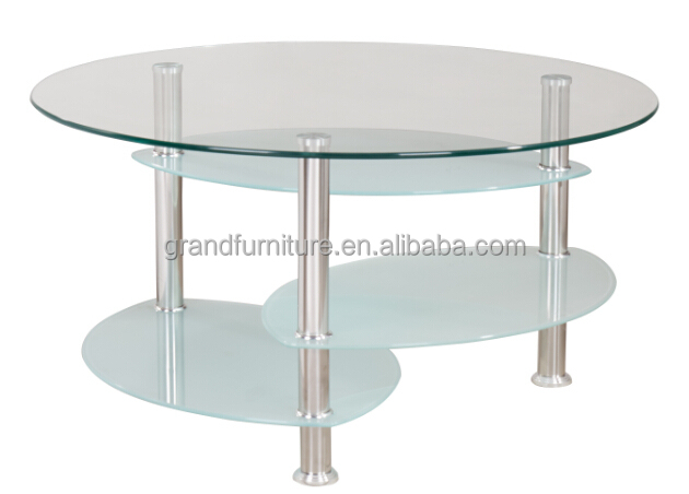 Popular cheap price tempered glass coffee table for home furniture