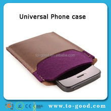 2014 Hot Luxury Trendying Universal Phone Wallet Cover For Huawei Ascend G6 Case(Purple)