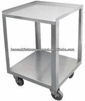 Stainless steel utility table with caster for hospital & kitchen