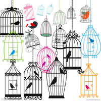 Different style iron bird cage with high quality