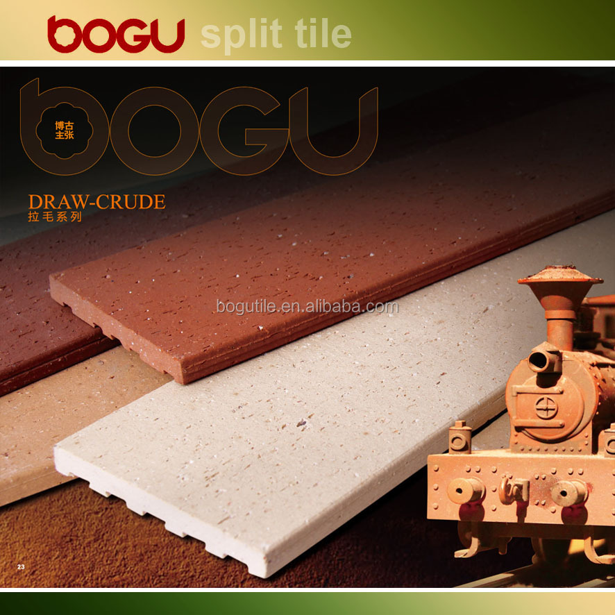 60x240mm Clay refractory brick look clinker tile Split tile