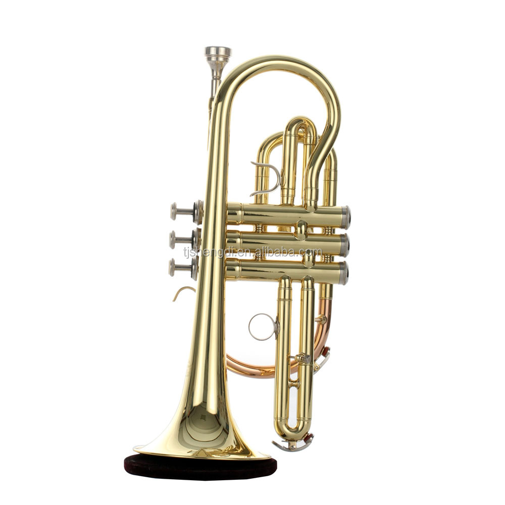Rose brass body finish High Grade Cornet/ Cornet/ Brass instrument
