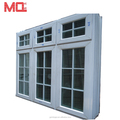 Aluminum window with grill design and mosquito net