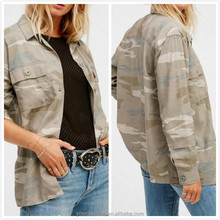 Dongguan clothing manufacturers lightweight army print down camo jacket women