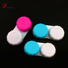 2 Colors 100 pcs/lot contact lens case packaging contact lenses case Eyewear Accessories