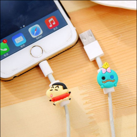 Cartoon shape USB 2.0 port usb cable protector for cable wholesales data line cable