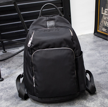 Hot Sale Fashion Simple Oxford Nylon match genuine leather Lightweight Folding Backpack/ Casual bag