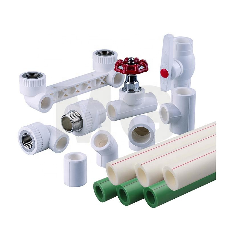 MG-B 66 plastic <strong>tube</strong> for water system pipe types of ppr water fitting plastic pipe <strong>tubes</strong> for hot water with red line