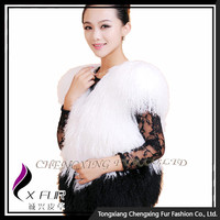 CX-G-B-239D Handmade Chinese Chengxing Fur Sheep Fur Real Fur Vest