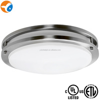 ETL Brushed Nickel Flush Mount 10W LED Ceiling Light Fitting UL Approval