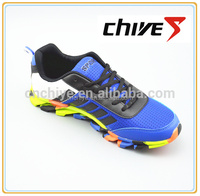 2016 new Soft rubber sole athletic football tennis shoe
