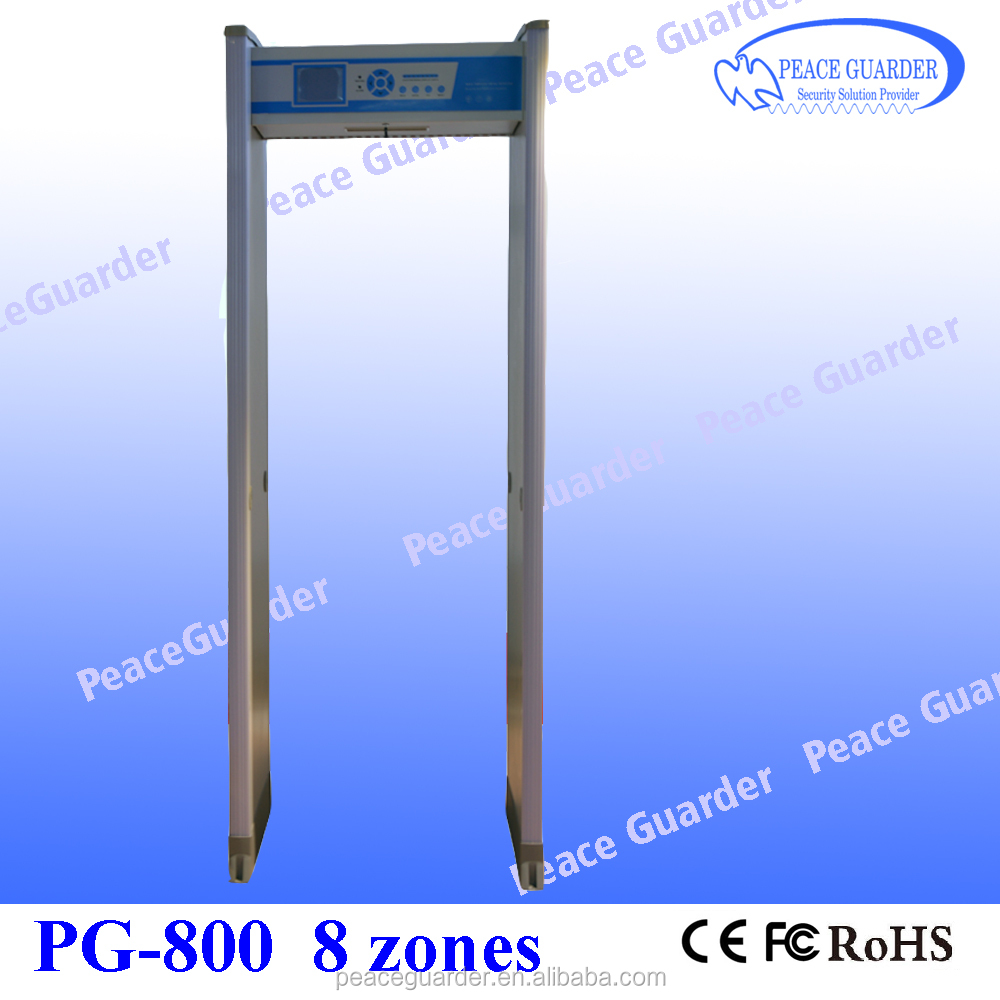 High sensitivity 8zone arch metal detector gate for gun /bomb checking in KTV PG800