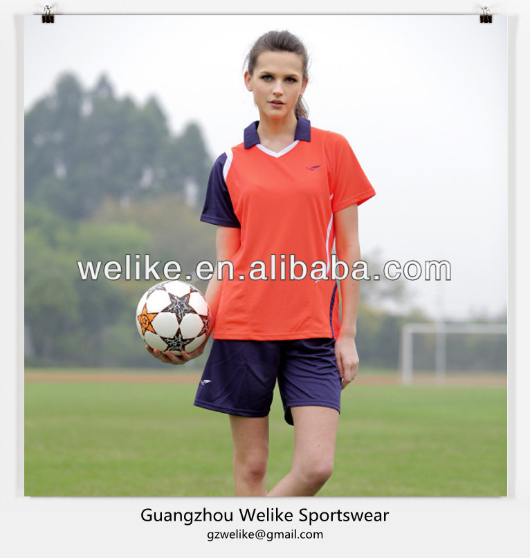 2014 orange black women shirt dry fit football shirt wholesale football practice jerseys