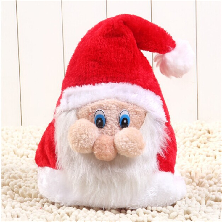 Wholesale Cute Santa Claus Non-woven Fabrics Christmas Hat