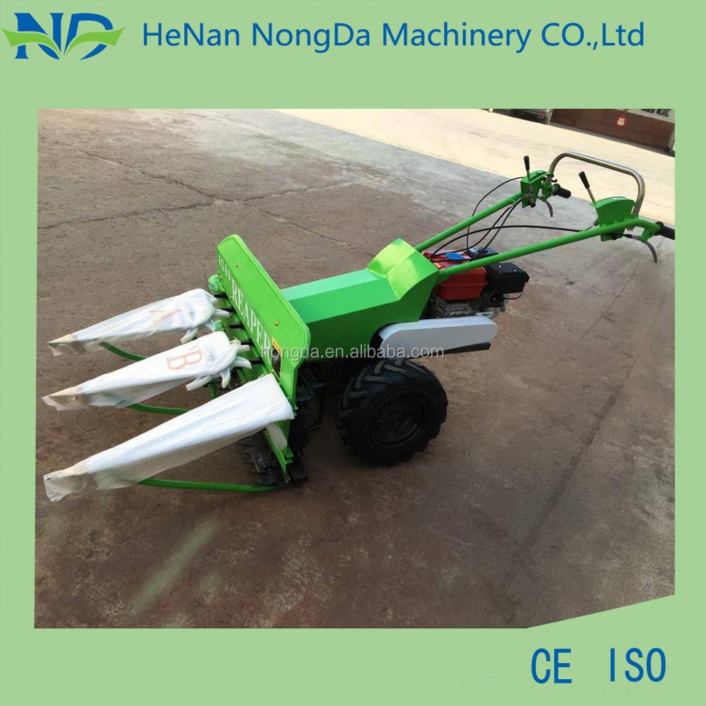 mini diesel engine wheat and rice reaper binder/ paddy rice harvesting and bundling machine