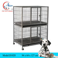 double dog cage/ large metal dog cage