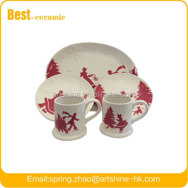 Ceramic Elliptical Santa Plate