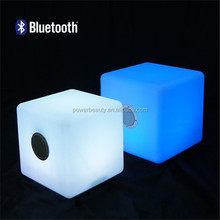 2015 professional waterproof wireless Mini portable Speaker Cube Bluetooth Speaker with led light