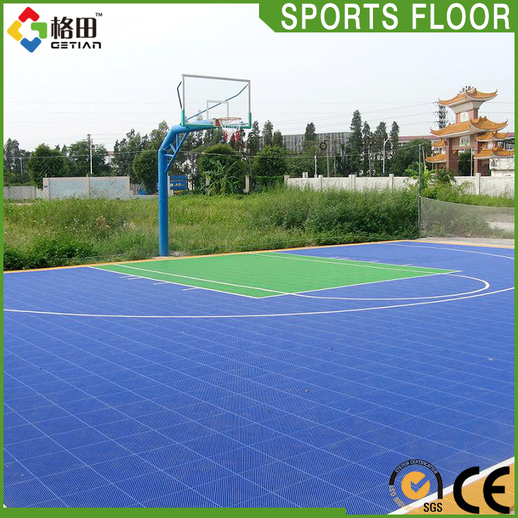 Popular colorful university flooring for basketball courts