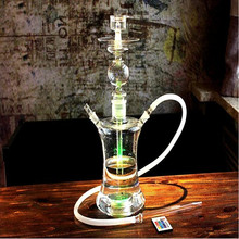 Vary color glass hookah with led glass water pipe hookah shisha