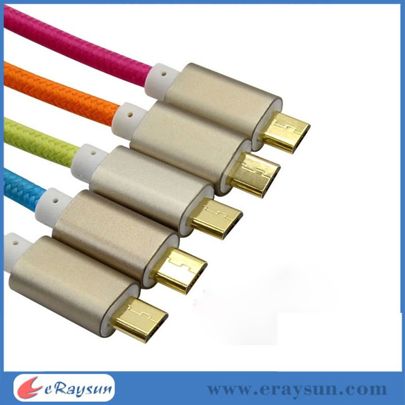 Hot Rapid Charge Braided Micro USB Cable For Galaxy S4 3 2 Note II