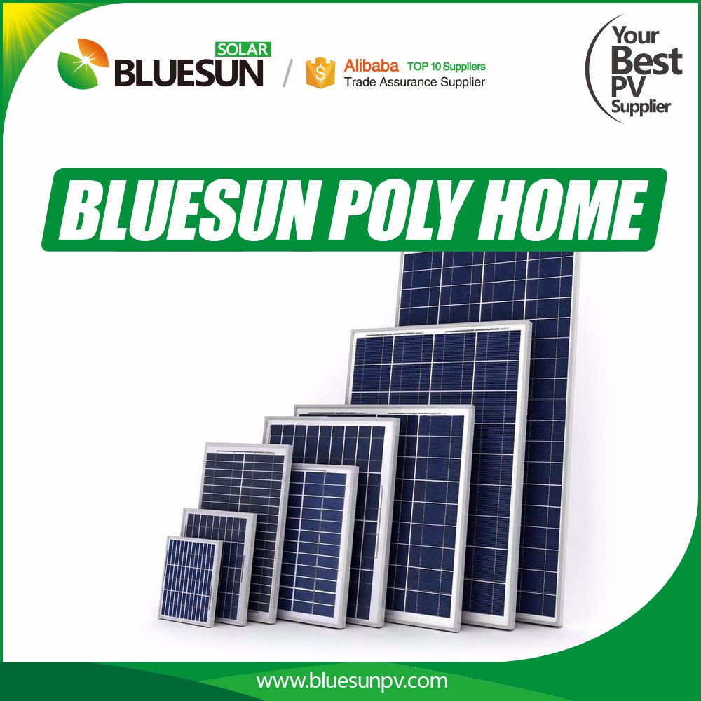 Bluesun most attractive design cheap price poly 50w solar panel traffic light