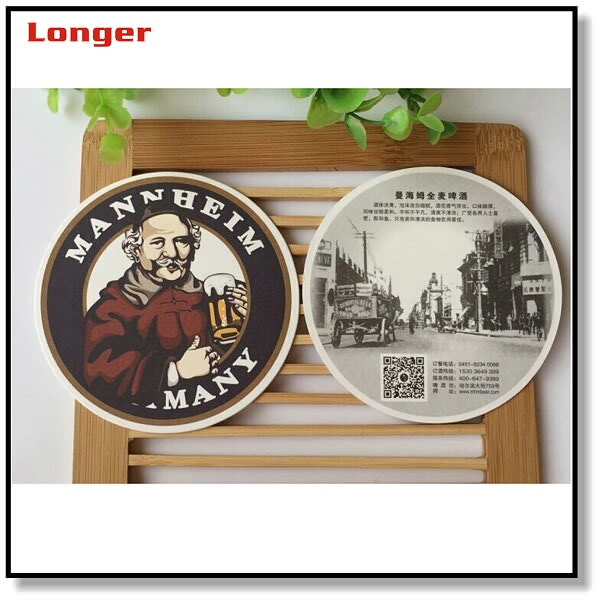 custom disposable round paper die cut drink coasters for pub and bar