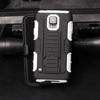 2015 In Stock!Holster Kickstand Combo Protector Case for For Samsung Galaxy S5 Active G870 Cell phone case