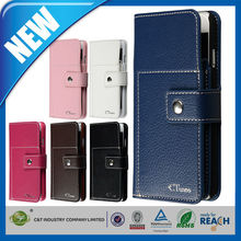 C&T Premium Leather Pouch Case for Apple iphone 6 Mobile Phone Accessories OEM/ODM Manufacture