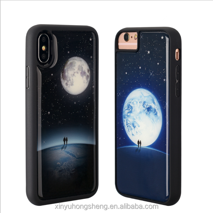 2018 New Trend Levitating Luminous Phone Cover for iphone 6 6s 7 plus X Nano Suction Antigravity Mobile Phone Case