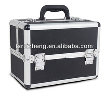 Black Hard Aluminum Makeup Case with Trays, RZ-ACS246