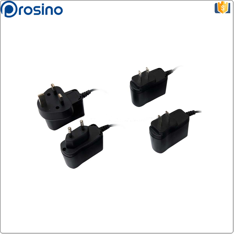 UL,CE,SAA approved 5W 12W interchangeable plugs adaptor 5V 2A 12V1A Switching Power AC/DC Adapters