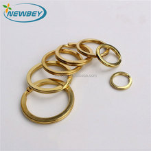 Anti-Rust solid brass flat key ring bulk for key chain