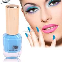 Free sample custom brand organic water based natural color gel nail gel polish