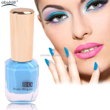 Free sample custom brand organic water based natural color gel nail gel polish
