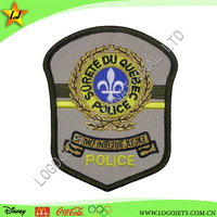 Twill fabric background logo branded embroidery patch
