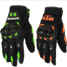 customized full finger motorcycle leather cycling gloves