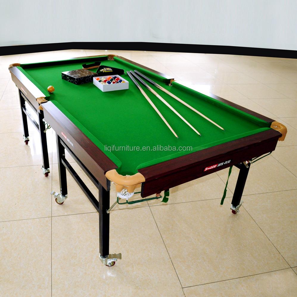 Portatile pieghevole pieghevole standard tablewheeled standard da biliardo snooker tavolo da - Tavolo da biliardo pieghevole ...