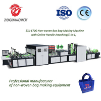 Good sales non-woven box bag and handle bag making machine with high quality and good customer service