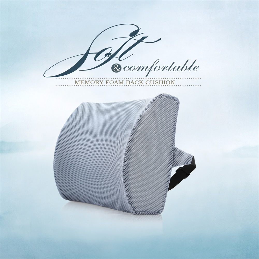 High quality memory foam back pain relief car seat lumbar support cushion