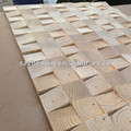 Elm end grain engineered wood wall board