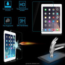 0.33mm flat edge high clear 9h tempered glass screen protector for Ipad2/3/4/5