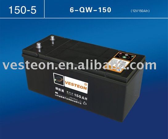 MF car battery N150 for bus truck marine traction