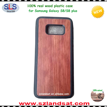 2017 new wood bamboo cell phone cover case for wood samsung galaxy s8 and s8 edge case