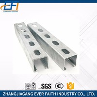 Low Price Hot Dip Unistrut Percolated Zinc Punching Steel Channel