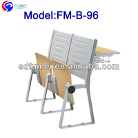 FM-B-96 University ladder classroom chair and table